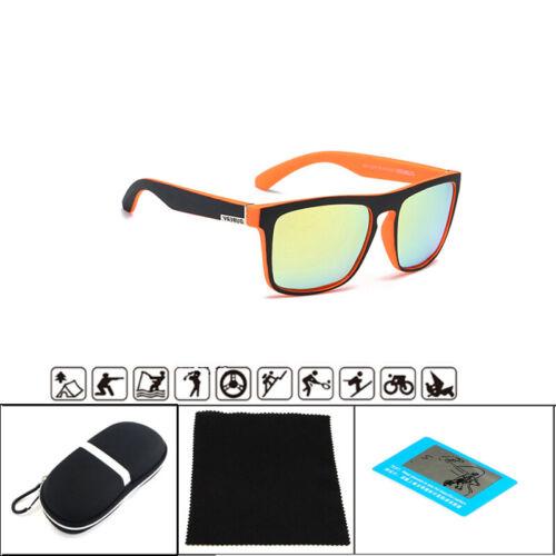 DUBERY Mens Sport Polarized Sunglasses Outdoor Riding Fishing Square Eyewear