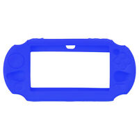PS VITA 2000+3000-CONSOLE-SILICONE PROTECTOR-BLEU/BLUE(NEUF/NEW)