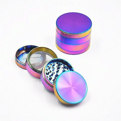 4 Piece Colorful Herb Spice Weed Alloy Smoke Crusher 40Mm Tobacco Grinder Hot