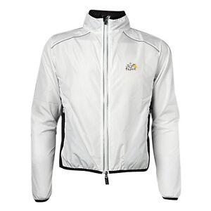 Tour-de-France-Cycling-Coat-Wind-Coat-Rain-Coat-Long-Sleeve-White