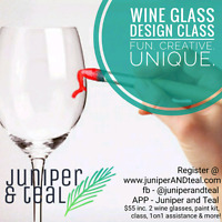 WINE GLASS DESIGN CLASS.... Say that three times fast!