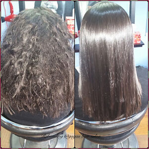 JAPANESE HAIR STRAIGHTENING KERATIN TREATMENT OLAPLEX TREATMENT Peterborough Peterborough Area image 10
