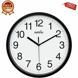 Large Analog Atomic Wall Clock Quartz Accurate Quiet Office Home 1AA  Battery