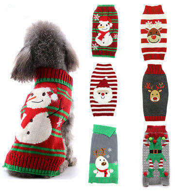 Chihuahua Costumes (Christmas Dog Clothes Knitted Jumper Sweater For Small Large Dogs Chihuahua)