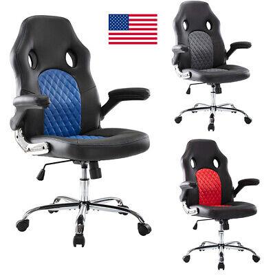 Pu Leather High Back Executive Office Chair Ergonomic Computer Desk Swivel Chair