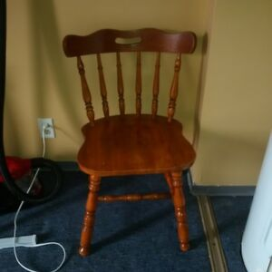 4 Solid wood kitchen chairs