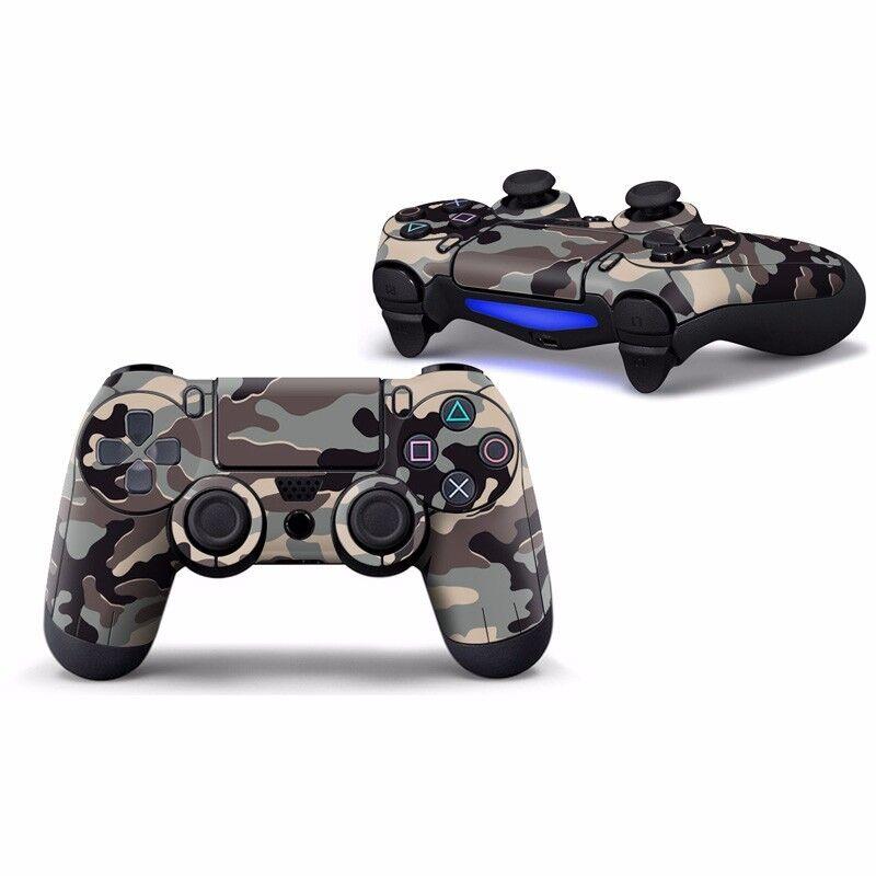 """Sticker Skin Aufkleber """"Camouflage"""" für Playstation PS4 Controller"""