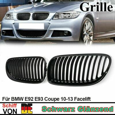 SPORTGRILL GRILL KÜHLERGRILL SET für BMW E92 COUPE E93 CABRIO M3 SCHWARZ MATT