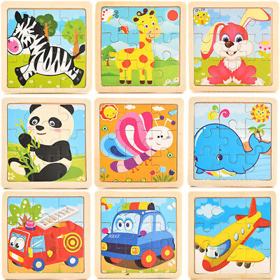 Development Baby Toys 3D Wooden Puzzle Cartoon Learning Educational Kids Toy - Kids Learning Toys