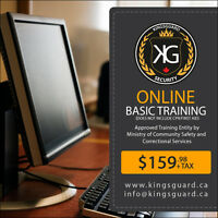 Online Basic Security Guard Training for $159.98