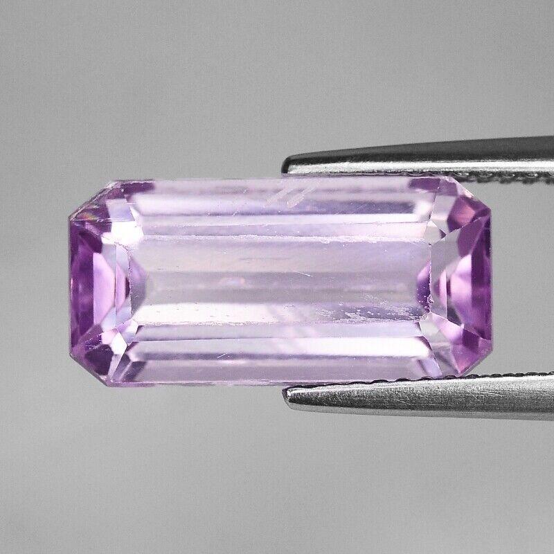 Pink Kunzite | Natural Kunzite | Emerald Cut 7.31 cts Loose Natural Gemstone