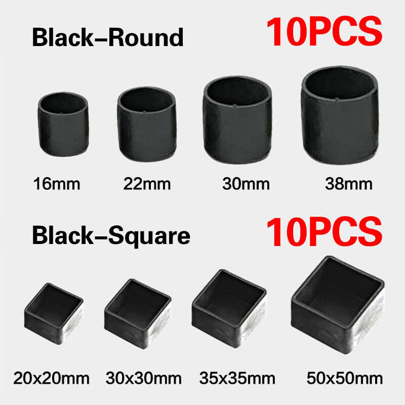 10PC Chair Leg Caps Pads Non-slip Silicone Floor Protector Furniture Table Socks