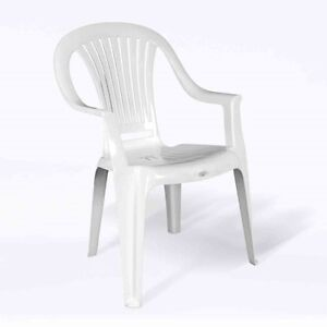 Two white lawn chairs and small foldable table. AVAILABLE Gatineau Ottawa / Gatineau Area image 1