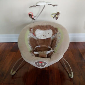 Fisher Price Bouncer Chair Snugga Monkey EXCELLENT CONDITION