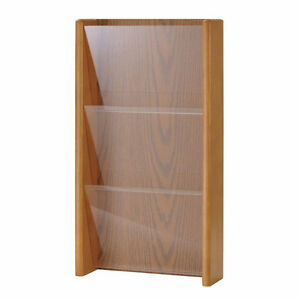Buddy Products Oak/Acrylic File Organizer