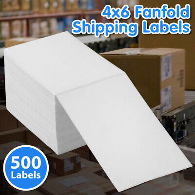 4x6 Fanfold Direct Thermal Shipping Labels For Zebra 2844 Zp450 Rollo Printers