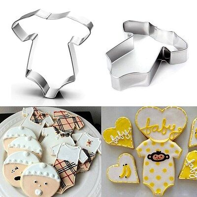 Stainless Steel Baby Shower Biscuit Pastry Cookie Cutter Cake Decor Mold Tool Decorated Baby Shower Cookies