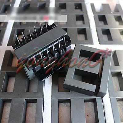 2set Ei60 66pins Ferrite Cores Bobbintransformer Coreinductor Coil New