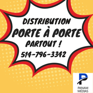 Distribution de flyers à Boucherville