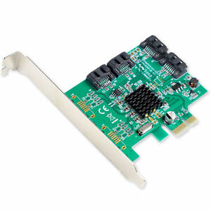Syba-SI-PEX40064-4-Port-Internal-SATA3-III-Marvell-88SE9215-Controller-Card-NEW