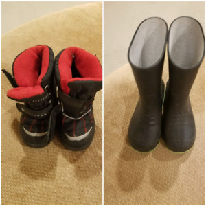 Rain and winter boots for kids