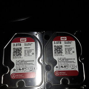 USED: 2xWDs Red 3Tb