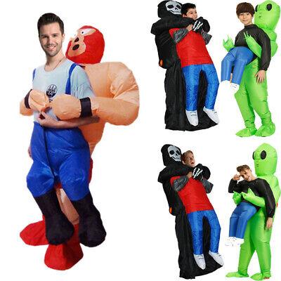 Wrestler Halloween Costume (Adult Deluxe Inflatable Wrestler Luchador Costume Outfit Suit Halloween Funny)