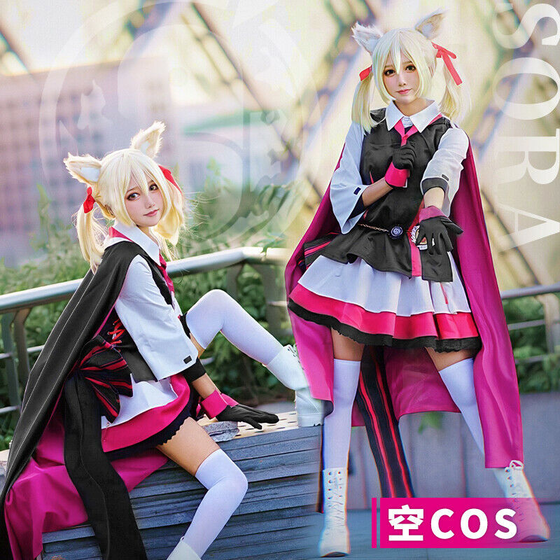 Anime Arknights Sora Costume Cosplay Sets Outfit Party ...