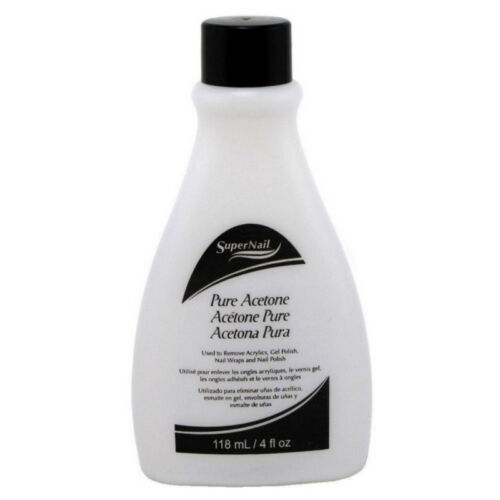 Super Nail Pure Acetone Polish Remover, 4 oz (Pack of 2)