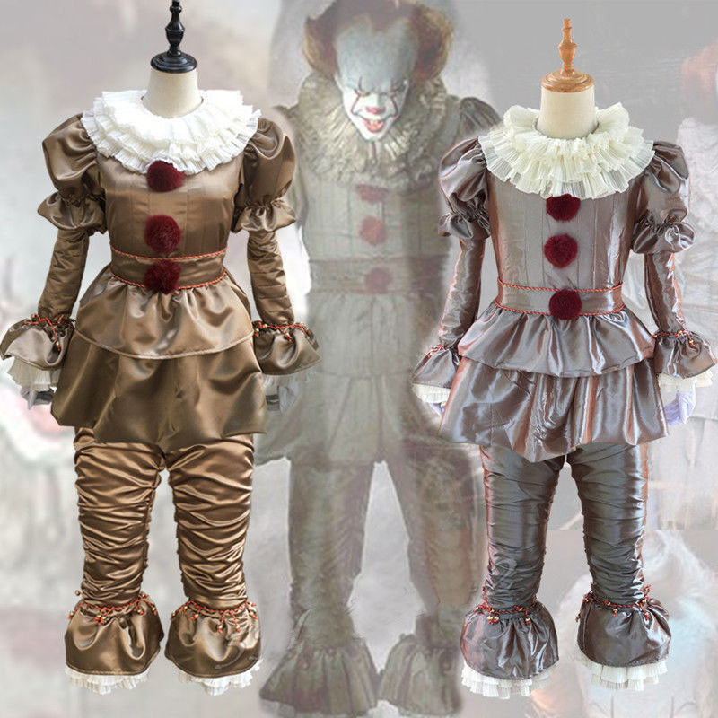 Halloween Stephen King Pennywise Clown It Chapter Men Kids Boys Costume Cosplay