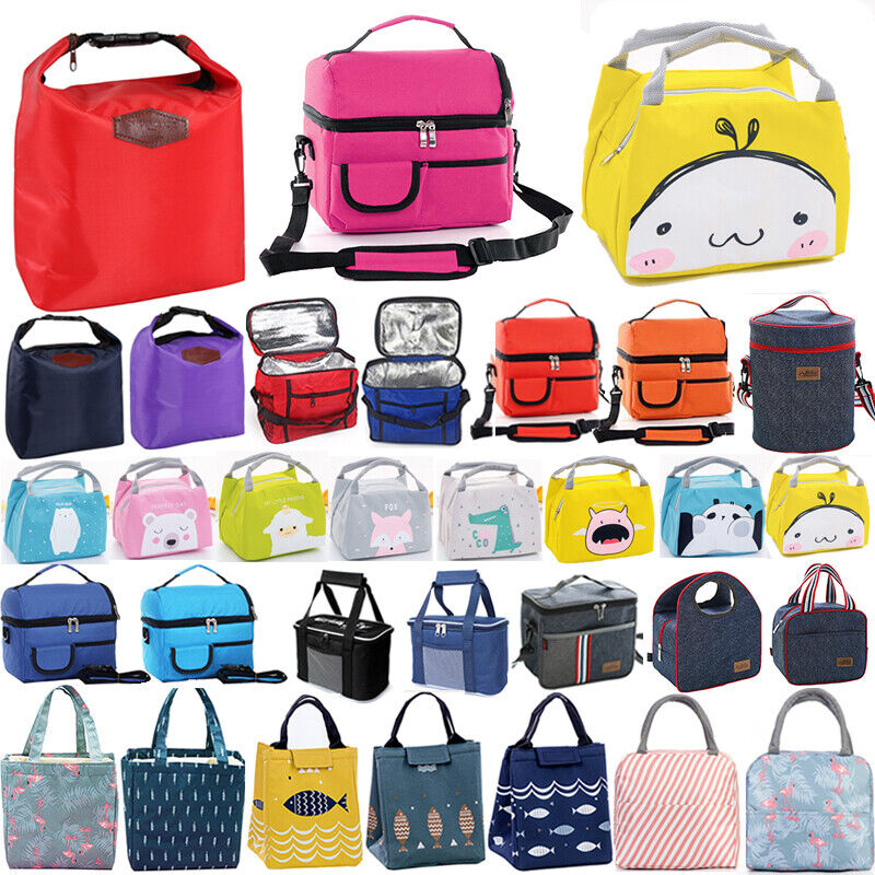 Insulated Thermal Lunch Bag Cooler Picnic Food Box Tote Carr