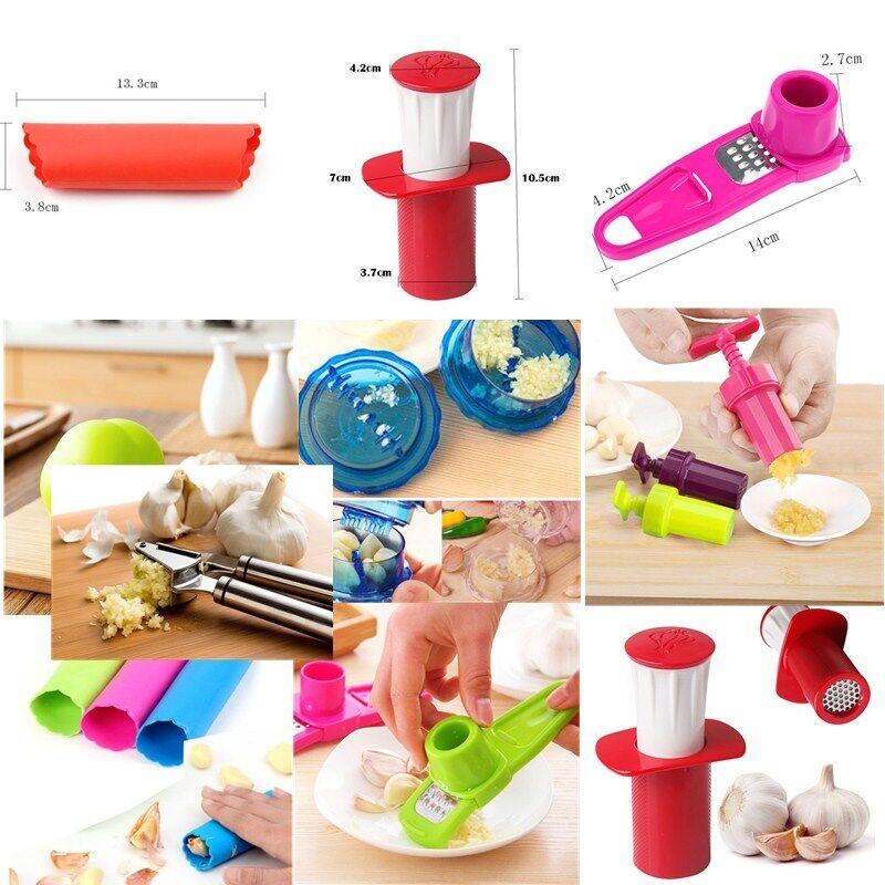 Kitchen Garlic Press Mincer Chopper Slicer Hand Presser Grinder Crusher BL