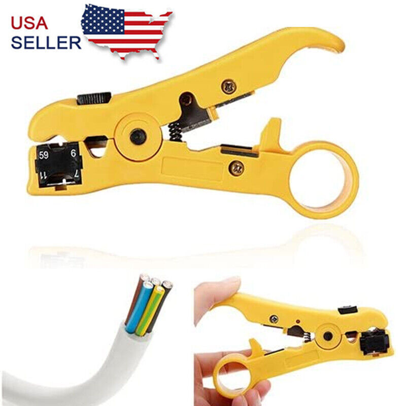 Rotary Coax Coaxial Cable Wire Cutter Stripper RG59 RG6 RG7 RG11 Stripping Tool