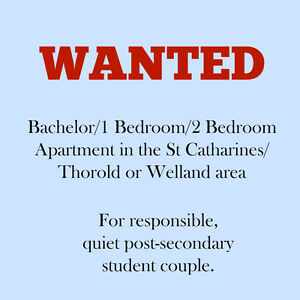 Student Couple Seeking Bach/1Bdr/2Bdr Apartment