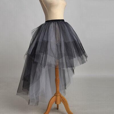 h Tulle High Low Tutu Bustle Skirt Black Dancing Skirt (Tutu Bustle)
