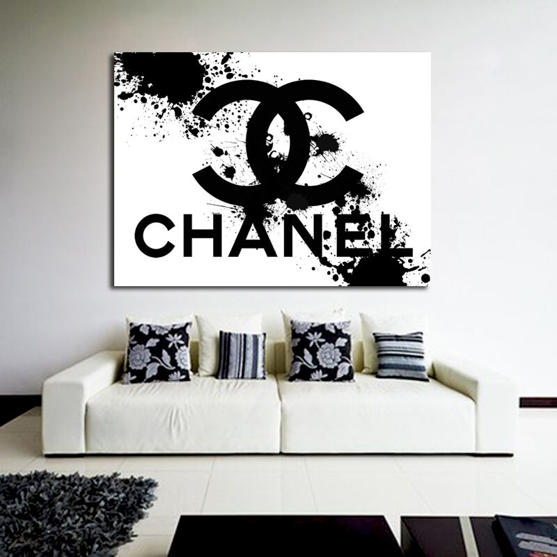 #02 Poster This Is Not Chanel Pop Art Splatter 40x54 inch (100x135cm) 8mil Paper
