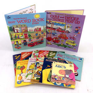 Lot 13 Richard Scarry Books Set Vintage Childrens Picture Story
