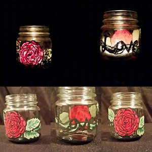 Small handful painted candle holders