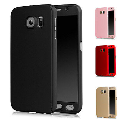 New 360° Case For Samsung Galaxy s7 Edge Black Bundled