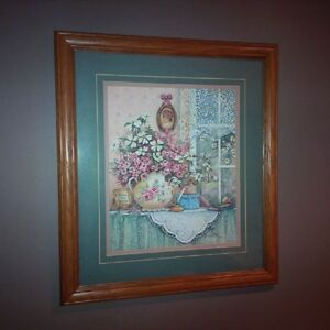 Frankie Buckley Signed Floral Print