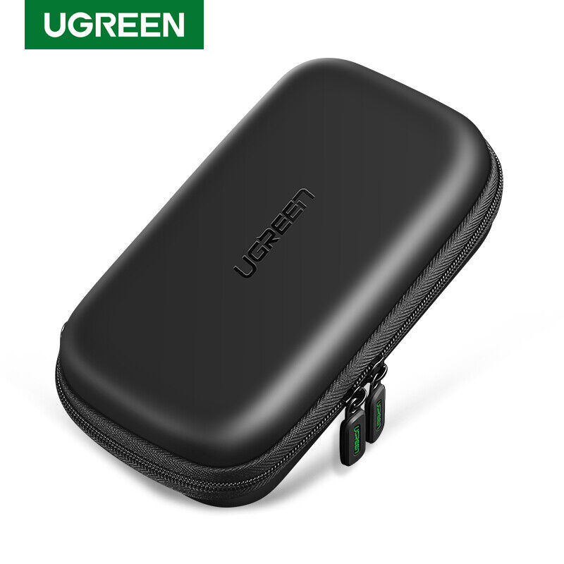 UGREEN External Hard Drive Case Cover Storage Bag For 2.5 Inch Hard Drive, Cable