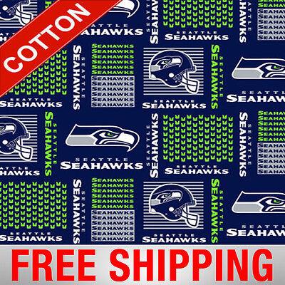 Seattle Seahawks NFL Cotton Fabric - 60