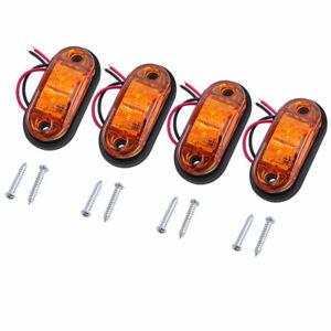 4PCS Side Marker Lights LED Front/Rear Lamps Universal Indicator