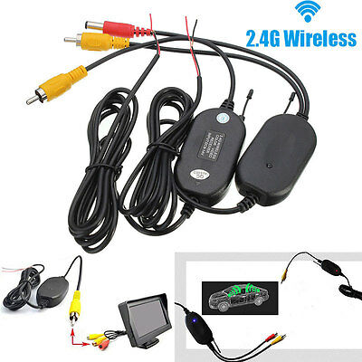 2 4G Wireless Video Transmitter   Receiver For Car Backup Camera Monitor S16k Dt