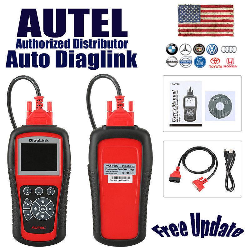 Autel Diaglink Obd Obd2 Car Code Reader Diagnostic Scanner Tool Abs Srs As Md802