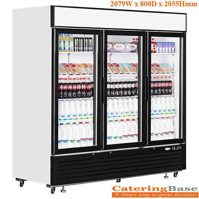 NEW Commercial 3 Hinged Door Drink Dairy Food Beverage Display Chiller LGC7500