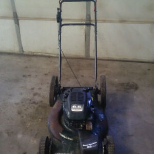 """Sears self-propelled 22"""" lawnmower with lots of extra parts"""