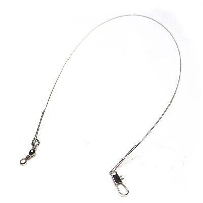 20 x 30cm Wire Trace pike fishing Sea Zander Lure Swivel Link Barrel Hook Feeder