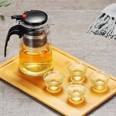 Cristal Tetera Con Infusor Transparente Antigoteras Agua Utensilios de Cocina