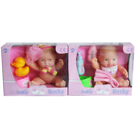 Baby becky toy doll potty and bath accessories (2 assorted)